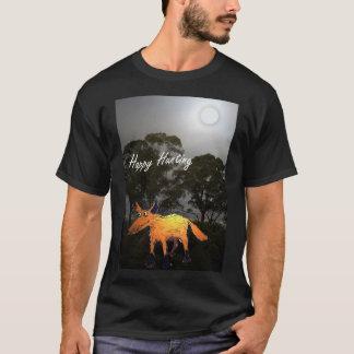 月光、幸せな狩り、ユーモアで孤色に変色させて下さい Tシャツ