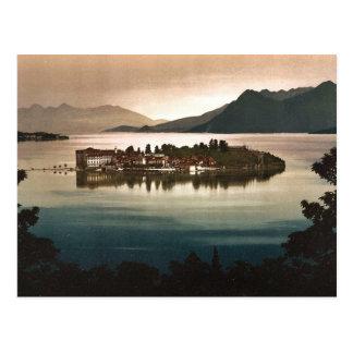 月光、Maggioreの湖によるIsola Bellaの、イタリア ポストカード