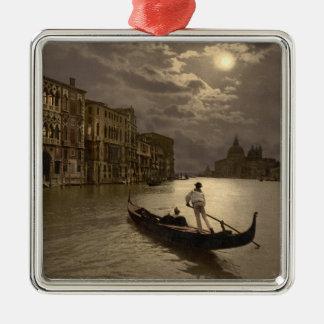 月光II、ベニス、イタリアによる大運河 メタルオーナメント