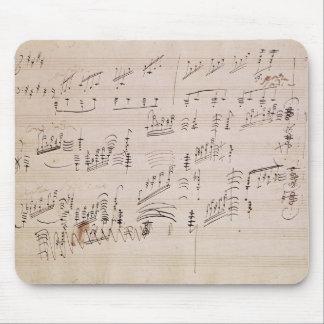 「月光Sonataのスコアシート マウスパッド