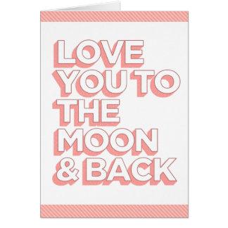 月及び背部に愛して下さい カード