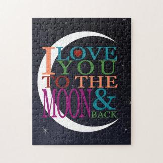 月及び背部に愛して下さい ジグソーパズル