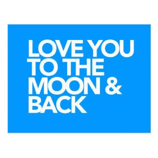 月及び背部カスタムな色に愛して下さい ポストカード
