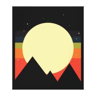 月山の抽象デザイン キャンバスプリント