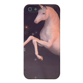 月明りの森林林間の空地のユニコーン iPhone 5 ケース