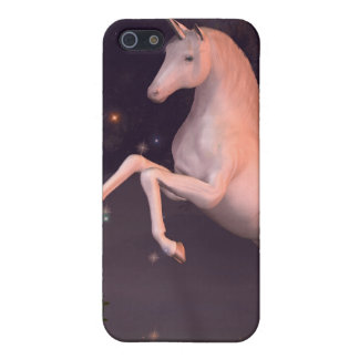 月明りの森林林間の空地のユニコーン iPhone SE/5/5sケース