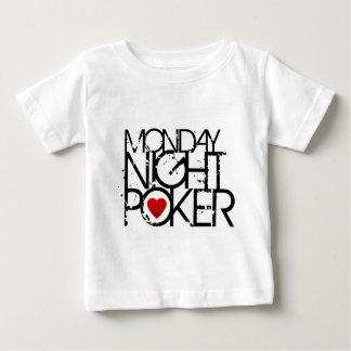 月曜の夜のトランプのポーカー ベビーTシャツ