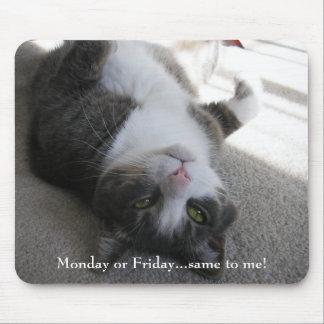 月曜日か金曜日…私への同じ! (mousepad) マウスパッド