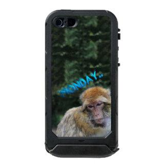 月曜日について悲しい猿 ウォータープルーフiPhone SE/5/5sケース