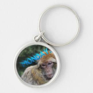 月曜日について悲しい猿 キーホルダー