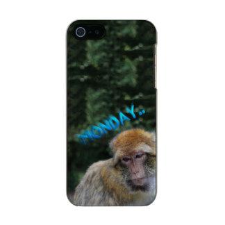 月曜日について悲しい猿 メタリックiPhone SE/5/5sケース