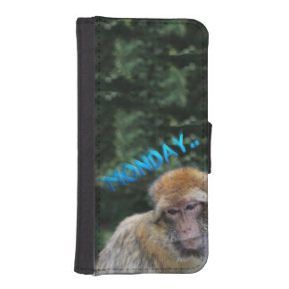 月曜日について悲しい猿 iPhoneSE/5/5sウォレットケース