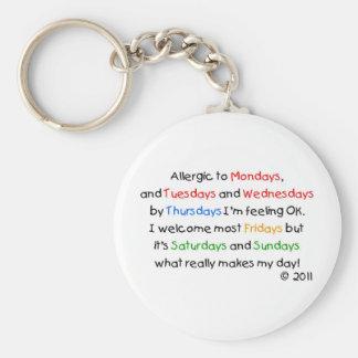 月曜日にアレルギー キーホルダー