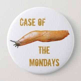 月曜日のスラグの例 10.2CM 丸型バッジ