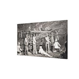 月曜日のフランスのな側面の高度のギャラリー キャンバスプリント