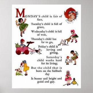 月曜日の子供 ポスター