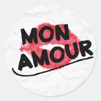 月曜日の恋愛動揺してな私の愛赤い口紅のキス ラウンドシール