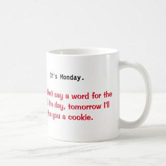 月曜日の悪いマグ コーヒーマグカップ