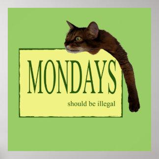 月曜日は違法べきです ポスター