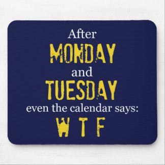 月曜日火曜日のマウスパッド マウスパッド