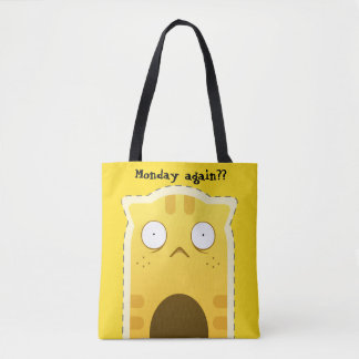 月曜日猫のトートバック トートバッグ