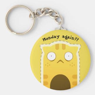 月曜日猫のkeychain キーホルダー