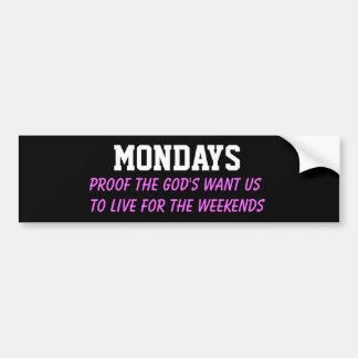 月曜日 バンパーステッカー