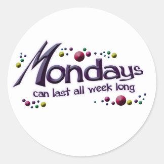 月曜日 ラウンドシール