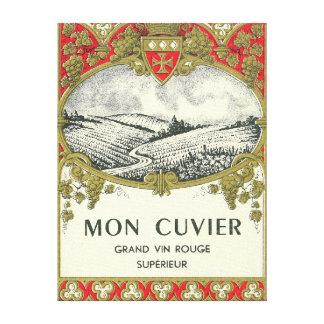 月曜日CuvierのワインLabelEurope キャンバスプリント
