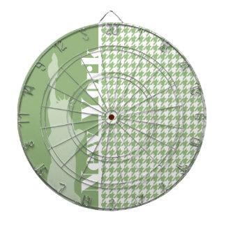 月桂樹の緑の千鳥格子の; ニューヨークシティ ダーツボード