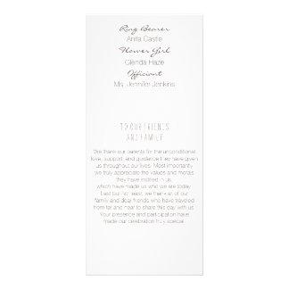 月桂樹の葉の金ゴールドの結婚式プログラム ラックカード