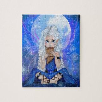 """""""月歌""""のronnebartonによる妖精の芸術のパズル ジグゾーパズル"""