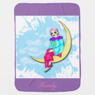 月毛布のピエロ ベビー ブランケット