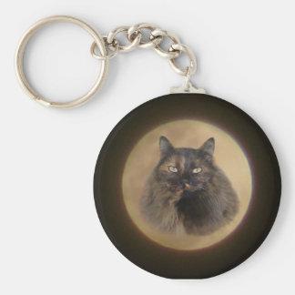 月猫Keychain キーホルダー