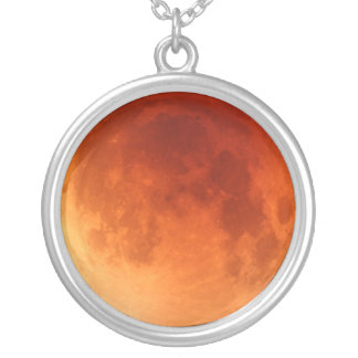 月食の赤い月の2011年のネックレスのペンダント シルバープレートネックレス