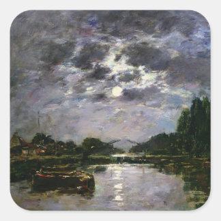 月1891年の効果(キャンバスの油) スクエアシール