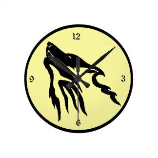 月2の時計の喚き声 ラウンド壁時計