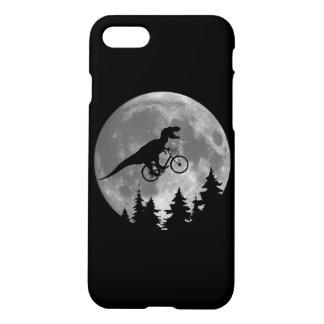 月80sのパロディが付いている空のバイクもしくは自転車に乗る人tのレックス iPhone 7ケース
