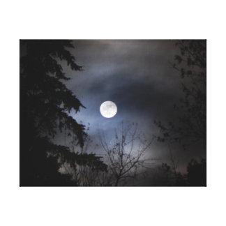 月 キャンバスプリント
