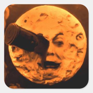 月(ブラッドオレンジのセピア色)への旅行 スクエアシール