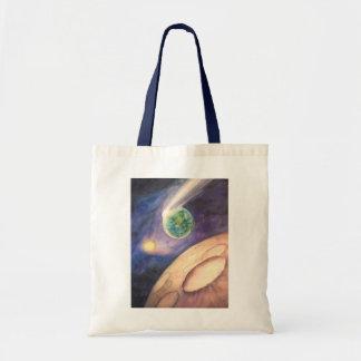 月、彗星、地球、日曜日 トートバッグ