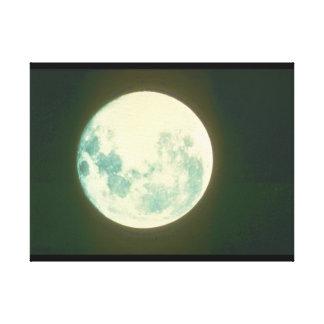 月。 (月; 空; close-up_Space場面 キャンバスプリント
