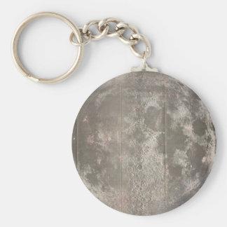 月(1961年)のヴィンテージの地図 キーホルダー