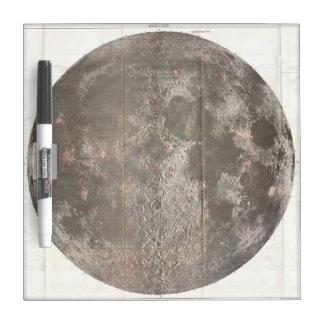月(1961年)のヴィンテージの地図 ホワイトボード
