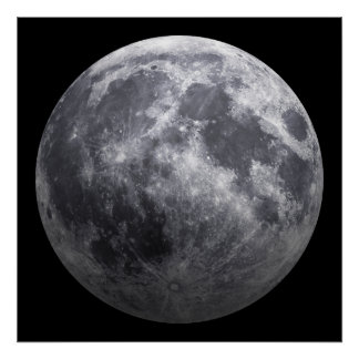 月- 3D効果 ポスター
