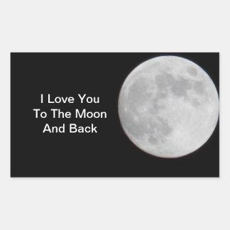 月Nの背部ステッカーにUを愛して下さい 長方形シール