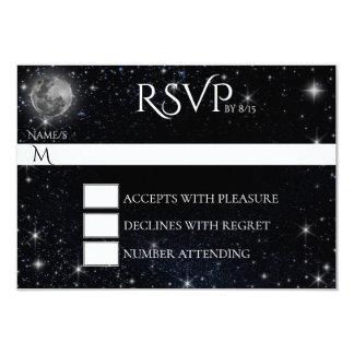 月RSVPカードとの星明かりの夜 カード