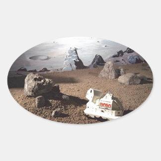 月SCAPE -火星NASAの代表団 楕円形シール