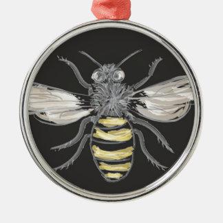 有利な《昆虫》マルハナバチ シルバーカラー丸型オーナメント