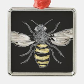 有利な《昆虫》マルハナバチ シルバーカラー正方形オーナメント